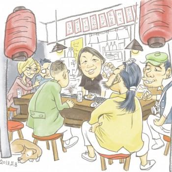 気仙沼横丁-イラスト