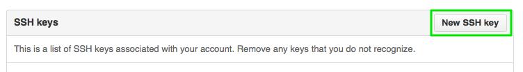 New SSH Key GitHub